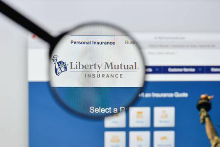 Milan, Italy - August 20, 2018: Liberty Mutual website homepage. Liberty Mutual logo visible. Editorial