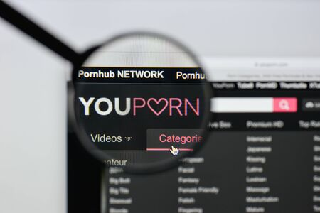 Milan, Italy - August 20, 2018: youporn website homepage. youporn logo visible. Editorial