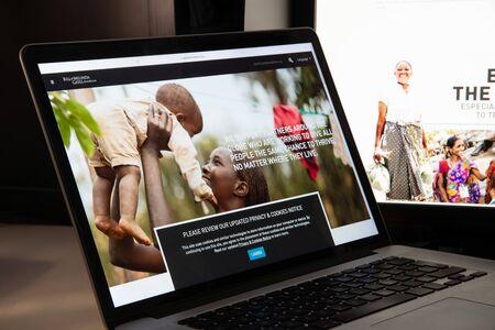 Milan, Italy - August 15, 2018: bill gates foundation NGO website homepage. bill gates foundation logo visible. Editorial