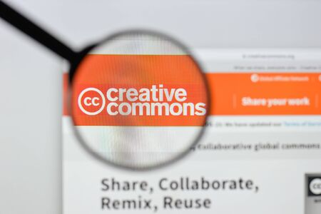 Milan, Italy - August 20, 2018: Creative Commons website homepage. Creative Commons logo visible.