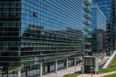 Milan, Italy - 30 June 2019: View of Porta Nuova area and Samsung District Editöryel