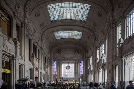 Milan, Italy - 30 June 2019: View of Stazione Centrale - Central Station