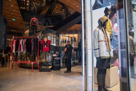Milan, Italy – September 21, 2019: Diesel store in Milan. Montenapoleone area. Fashion week shopping