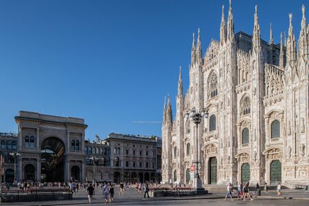 Milan, Italy - 30 June 2019: View of Piazza Duomo
