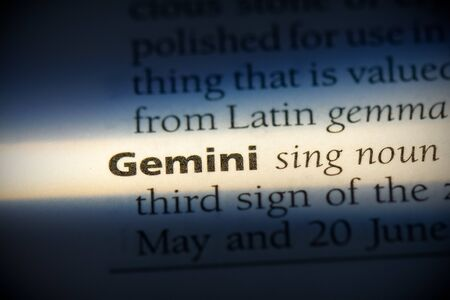 gemini word in a dictionary. gemini concept, definition. Stock fotó