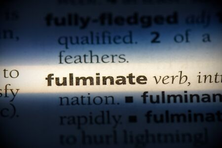 fulminate word in a dictionary. fulminate concept, definition.