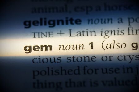 gem word in a dictionary. gem concept, definition.