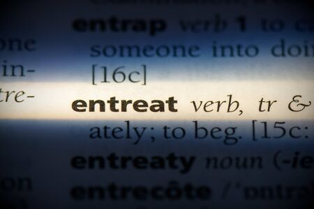 entreat word in a dictionary. entreat concept, definition.