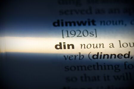 din word in a dictionary. din concept, definition.