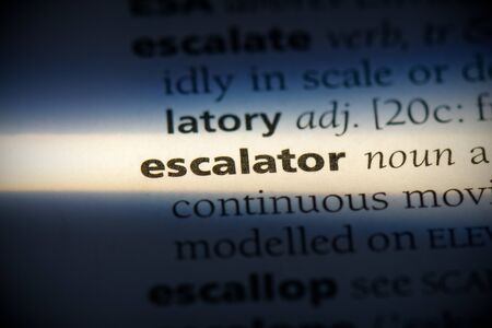 escalator word in a dictionary. escalator concept, definition.