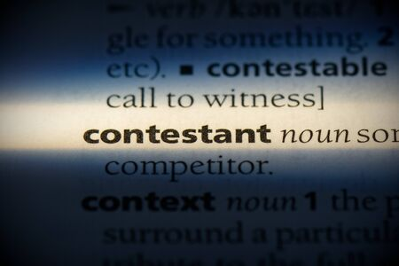 contestant word in a dictionary. contestant concept, definition.