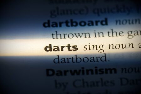 darts word in a dictionary. darts concept, definition.