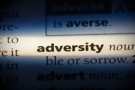 adversity word in a dictionary. adversity concept, definition. 스톡 콘텐츠 - 132112308