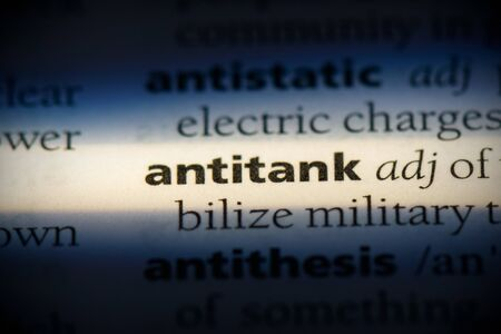 antitank word in a dictionary. antitank concept, definition. 写真素材