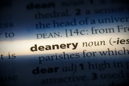 deanery word in a dictionary. deanery concept, definition.