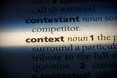 context word in a dictionary. context concept, definition.