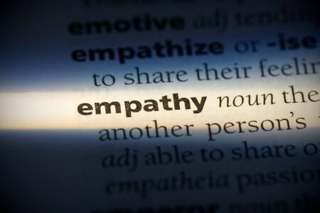 empathy word in a dictionary. empathy concept, definition.