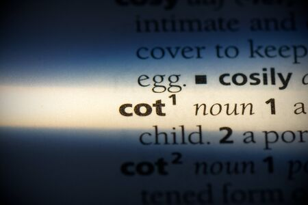cot word in a dictionary. cot concept, definition.