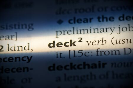 deck word in a dictionary. deck concept, definition.
