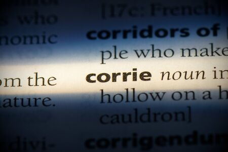 corrie word in a dictionary. corrie concept, definition.