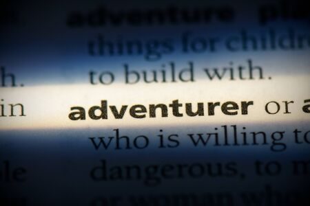adventurer word in a dictionary. adventurer concept, definition.