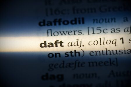 daft word in a dictionary. daft concept, definition.
