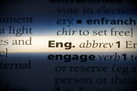 eng word in a dictionary. eng concept, definition.