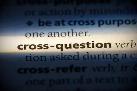 cross-question word in a dictionary. cross-question concept, definition.