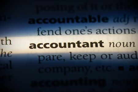 accountant word in a dictionary. accountant concept, definition. Stock Photo