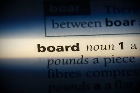 board word in a dictionary. board concept, definition.