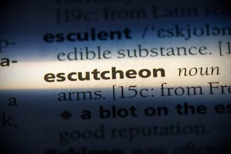 escutcheon word in a dictionary. escutcheon concept, definition.