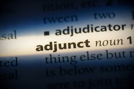 adjunct word in a dictionary. adjunct concept, definition. 版權商用圖片