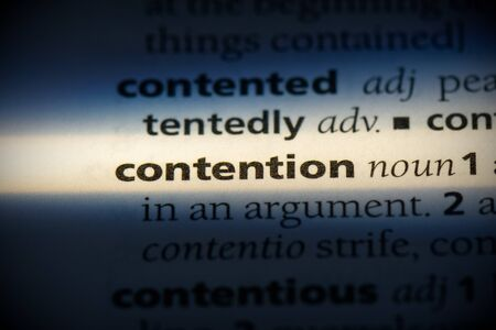 contention word in a dictionary. contention concept, definition.