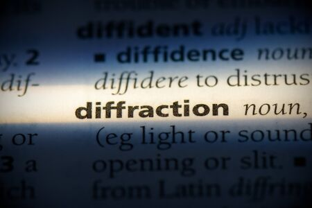 diffraction word in a dictionary. diffraction concept, definition.