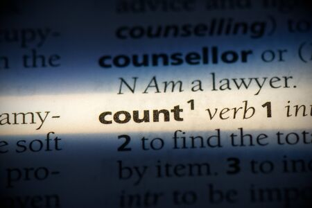 count word in a dictionary. count concept, definition.