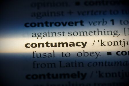 contumacy word in a dictionary. contumacy concept, definition.
