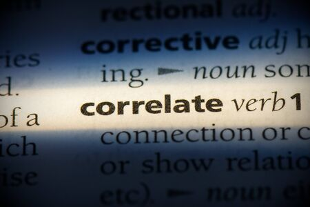 correlate word in a dictionary. correlate concept, definition.