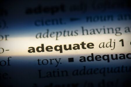 adequate word in a dictionary. adequate concept, definition.