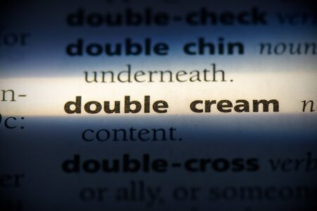 double cream word in a dictionary. double cream concept, definition.