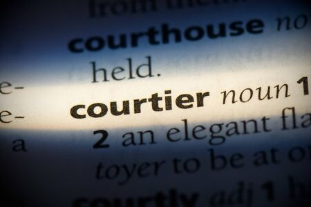courtier word in a dictionary. courtier concept, definition. 写真素材