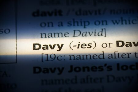 davy word in a dictionary. davy concept, definition.