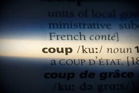 coup word in a dictionary. coup concept, definition.