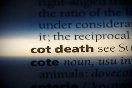 cot death word in a dictionary. cot death concept, definition.