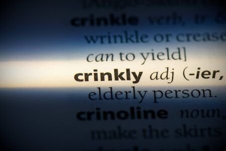 crinkly word in a dictionary. crinkly concept, definition.
