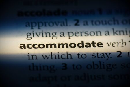 accommodate word in a dictionary. accommodate concept, definition.