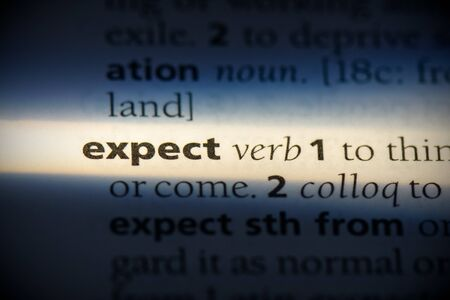 expect word in a dictionary. expect concept, definition.