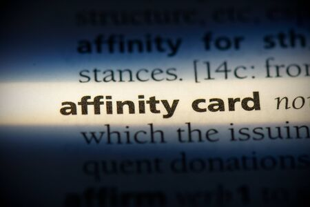 affinity card word in a dictionary. affinity card concept, definition.