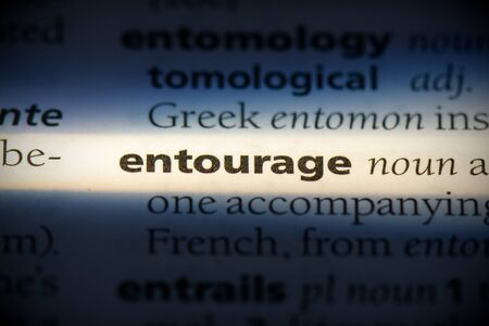 entourage word in a dictionary. entourage concept, definition.