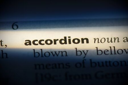 accordion word in a dictionary. accordion concept, definition.