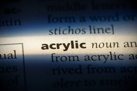 acrylic word in a dictionary. acrylic concept, definition. 写真素材